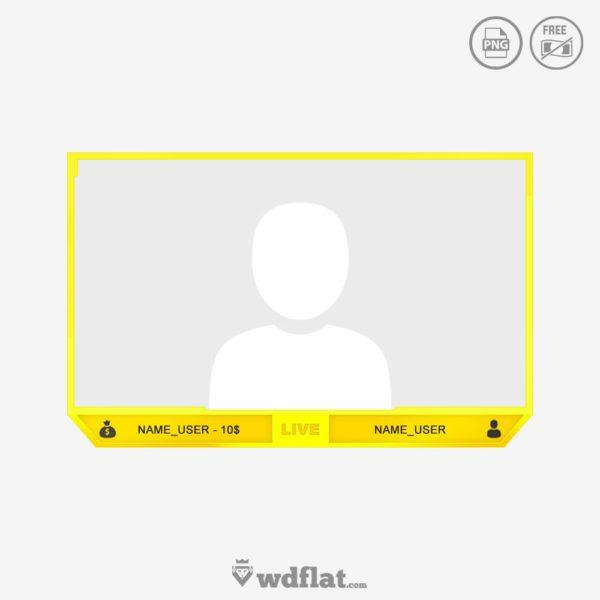 Yellow Stream – facecam border