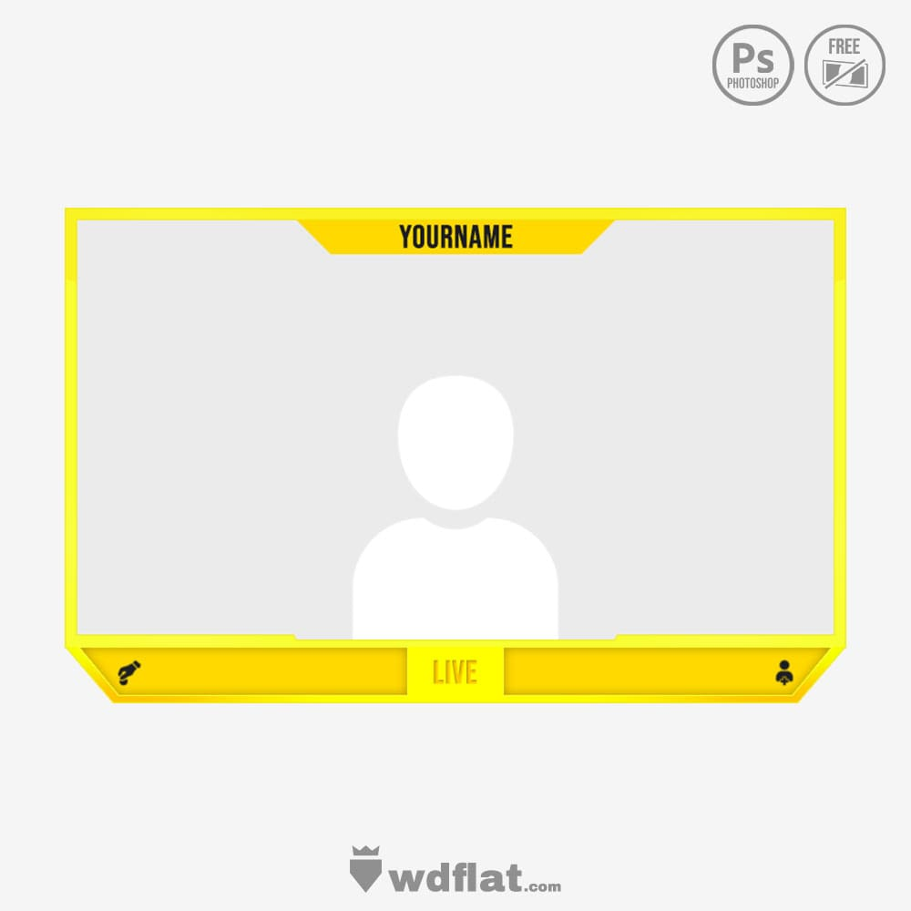 Yellow Stream_facecam border
